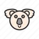 animal, australia, bear, eucalyptus, fur, koala, tree icon