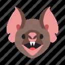 bat, emoticons, expression, face, happy, man, sad icon