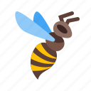 bee, bug, fly, hive, jar, nature, sweet icon