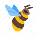 bumblebee, fly, pollen, racket, rocket, space, startup icon
