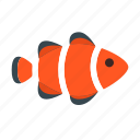 clown, fish, fishing, food, healthy, seafood, vegetable icon