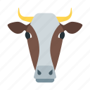 agriculture, beef, cow, dairy, meat, milk, ox icon