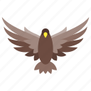 air, falcon, flying, hawk, plane, sky, wing icon