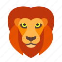 africa, african, cat, circus, face, jungle, lion icon
