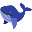 beverage, blue, ocean, shark, water, whale, wildlife icon