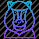 animal, ape, baboon, monkey, primate icon