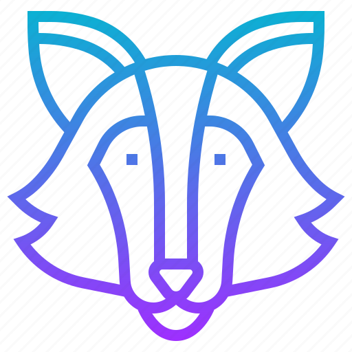 animal, canine, coyote, hyena, wild, wolf icon