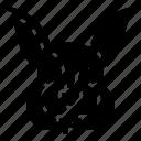 animal, draw, hare, head, rabbit icon
