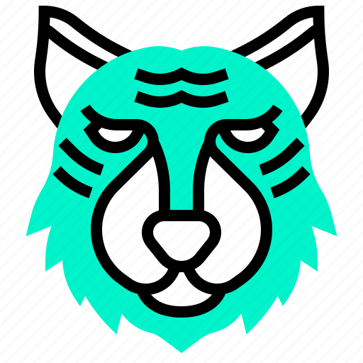 animal, fierce, hunter, tiger, wild icon