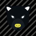 animal, heads, jungle, panther, run, wild icon