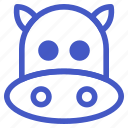animal, cow, farm, milk icon