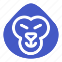 animal, ape, gorilla, monkey, wildlife, zoo icon