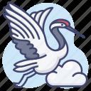 animal, bird, crane, stork icon