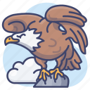 animal, bird, eagle, hawk icon