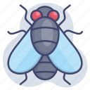bug, flies, fly, insect icon