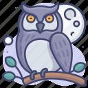 bird, night, owl, wisdom icon