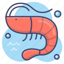 prawn, sea, seafood, shrimp icon