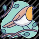 bird, mockingbird, robin, sparrow icon