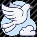 pigeon, peace, dove, bird icon