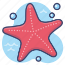 animal, beach, sea, starfish icon