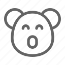 bear, koala, marsupial icon