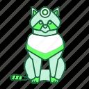 animal, beaver, green, icon2, sit