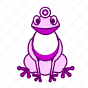 animal, frog, icon2, purple, sit icon