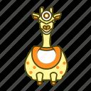 animal, front, giraffe, icon2, yellow icon