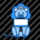 animal, blue, icon2, lion icon