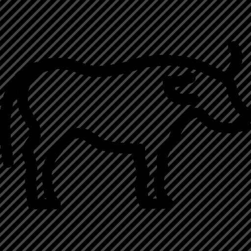 animal, bovine, buffalo, bull, ox icon