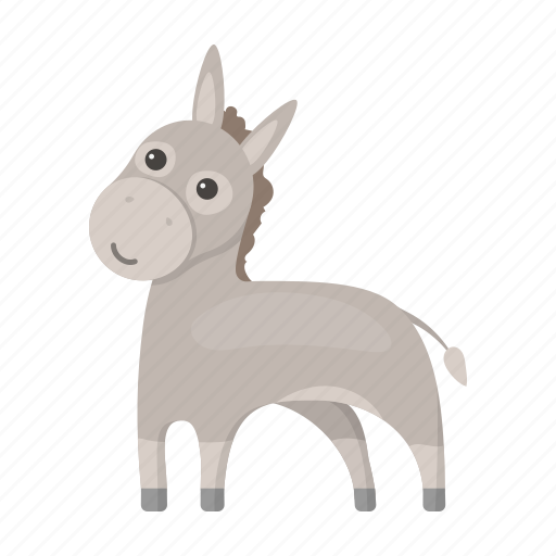 animal, burro, cute, donkey, toy icon