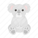 animal, bear, cute, koala, marsupial, toy icon