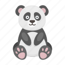 animal, bamboo, bear, cute, panda, toy icon