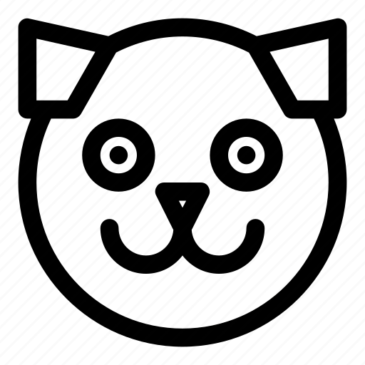 animal, dog, happy, pet, smile icon