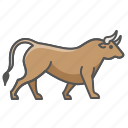 animal, bull, wild icon
