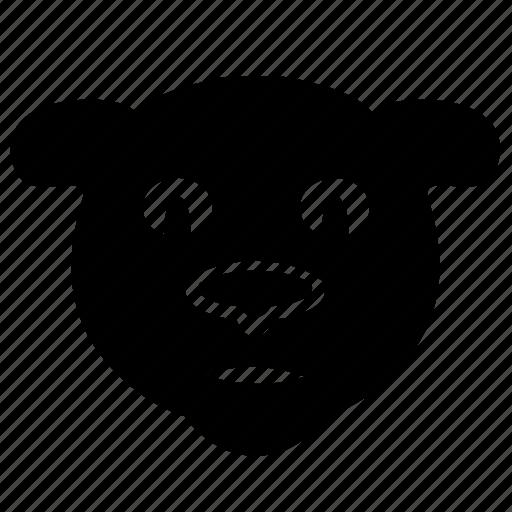 animal, avatar, bear, face icon