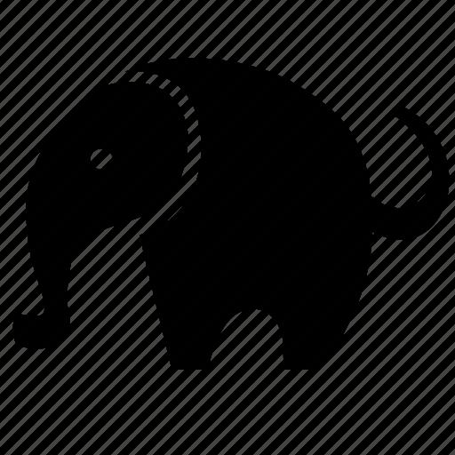 africa, animal, body, elephant icon