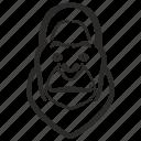 animal, avatar, face, gorilla, head