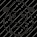 avatar, face, gorilla, head, sad