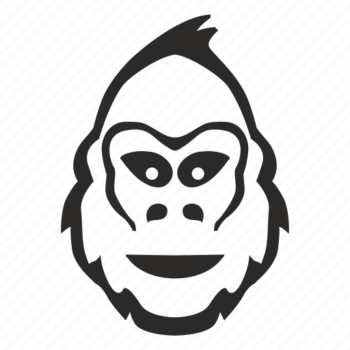 emoticon, emotion, gorilla, head, monkey, smile icon
