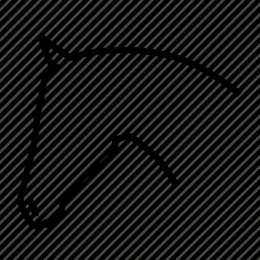 animal, farm, horse, ride icon