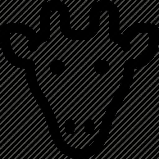 Giraffe, mammal, animals, wild, pets, antlers icon - Download on Iconfinder