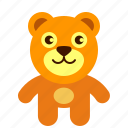 bear, brown, teddy icon