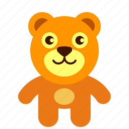 animal, bear, brown, teddy, toy icon