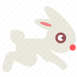 jump, rabbit icon