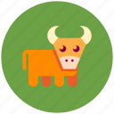 bull, cow, farm icon
