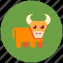 cow, bull, farm
