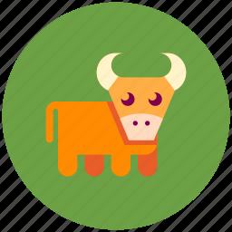 animal, bull, cow, farm icon