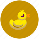 animal, duck, duckling, rubberduck icon