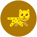 animal, cat, fast, icojam, leopard icon